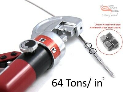Hydraulic Swager Stainless Steel G.316 Wire Rope Balustrade Swaging Tool