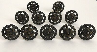 Vintage Drawer Cabinet Knob Pulls Scroll Weave Japan 1048 Brass Celtic Lot of 11