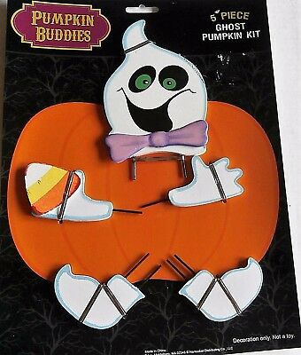 HALLOWEEN PUMPKIN BUDDIES  5 Pieces  GHOST PUMPKIN KIT