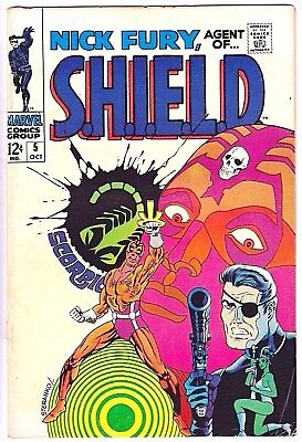 Nick Fury, Agent Of Shield#5 Vg 1968  Marvel Silver Age Comics