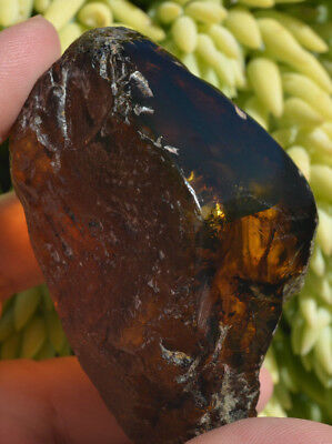 Dominican Amber Stone Green rough Bead sphere- 46.2 x 78.2mm ( 72.9 g)-Ref.# 545