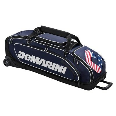 (navy) - DeMarini Special Ops Wheeled Bag. DeMarini Sports. Brand New