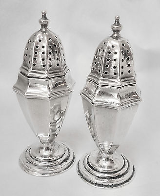 BEAUTIFUL!! Atq Late 1800s ENGLISH SILVER Plated Pedestal Salt & Pepper Shakers