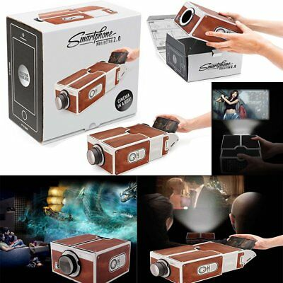 Portable V2.0  Projector DIY Video Film Mobile Phone Theater Cinema For iPhone