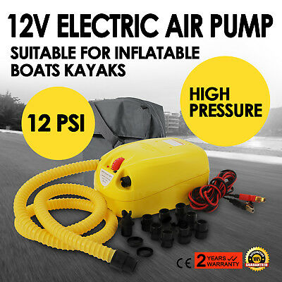 12V Electric Air Pump Avon Achilles Mercury Zodiac & other Inflatable Boats