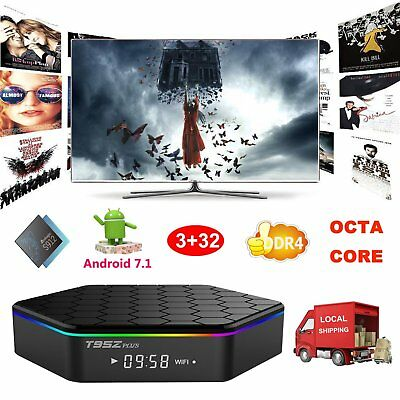 3+32GB DDR4 Android 7.1 S912 Octa Core Smart TV BOX 4K HD Movies 3D Media Player