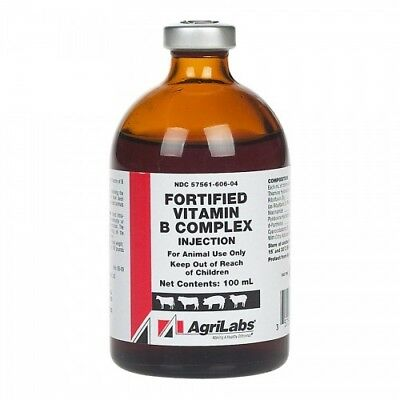 Fortified Vitamin B Complex, 100mL (Injectable - Animal Use)