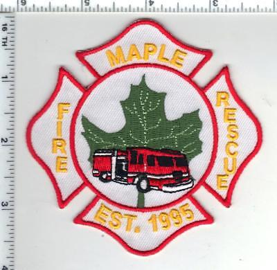 Maple Fire Rescue (Ontario, Canada) Shoulder Patch late 1990's