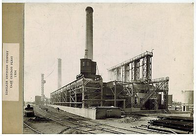 1924 VINTAGE PHOTOGRAPH SINCLAIR OIL Refinery East Chicago Indiana  BW #11