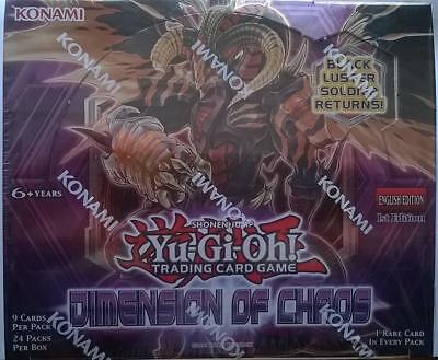 Yugioh Dimensions of Chaos New Sealed Booster Box