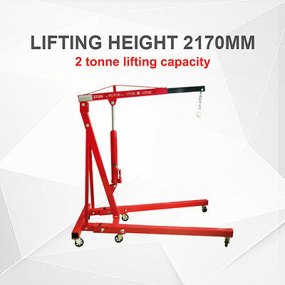 *Nsw Pickup* 2 Tonne Folding Hydraulic Engine Workshop Crane Hoist Lift