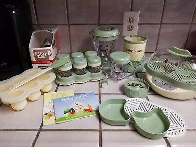 Baby Bullet Food System With Steamer And Accessories Used