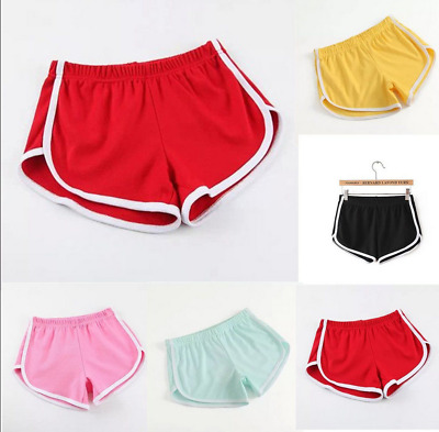 Pure Cotton Women Fitness Sports Running Shorts with Drawstring Elastic Waist GT
