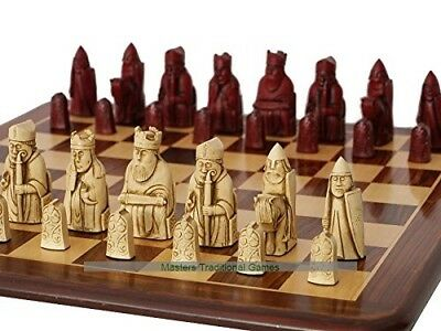 Isle of Lewis Chess Set (cream and red, board not included). Berkely Chess