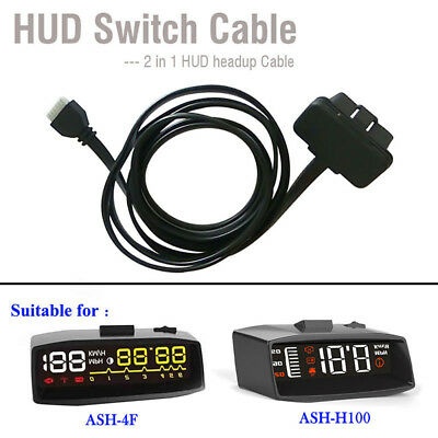 2in1 Headup Display Power Switch Diagnostic Extension OBD2 Cable For HUD 4F/H100