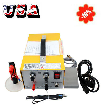 110V Pulse Sparkle Spot Welder Jewelry Welding Machine Gold Silver Platinum