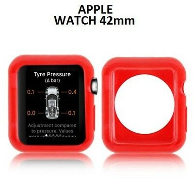 COMPATIBILE APPLE CUSTODIA GEL TPU SILICONE per APPLE WATCH 42MM COLORE ROSSO TR