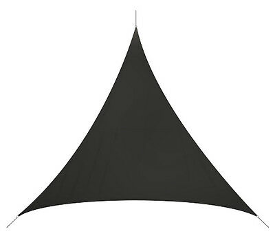 Voile d'ombrage triangulaire 3,6x3,6x3,6 m couleur gris anthracite 180g