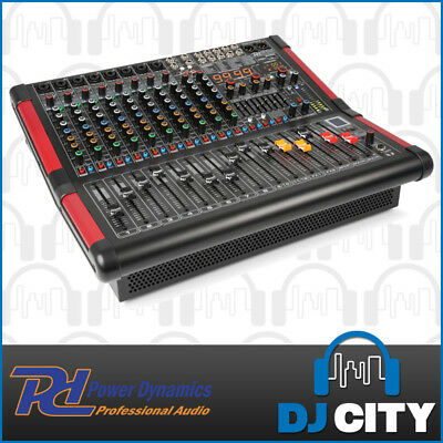 Power Dynamics PDM-S1204A Powered PA Mixer 12 Channel 700W w/ Dual FX & BT MP3