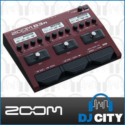 Zoom B3N Multi-Effect Bass Guitar FX Processor Stompbox - Genuine Dealer