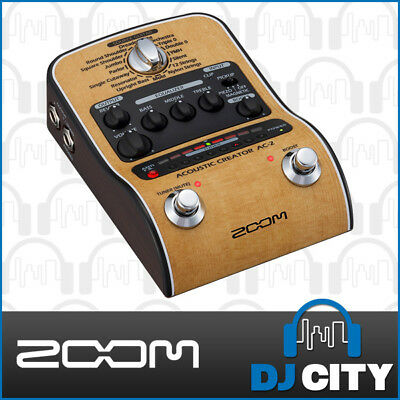 Zoom AC-2 Acoustic Creator Guitar DI with Effects and Tuner - GENUINE DEALER