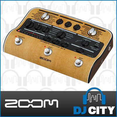 Zoom AC-3 Acoustic Creator Guitar DI with Effects and Emulators - GENUINE DEALER