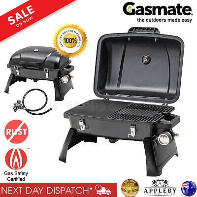 Portable BBQ Gas Barbecue Grill Outdoor Folding Caravan Camping Picnic Steel