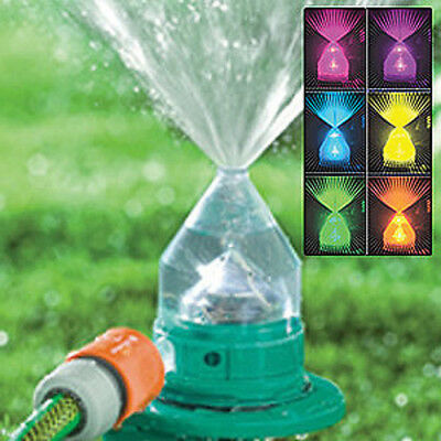 LED Colorful Sprinkler Irrigation Lawn Sprayer Grass Watering Head for 16mm Hose