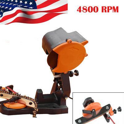 USA 4800 RPM Electric Chain Saw Sharpener Grinder Bench Wall Vise Mount Chainsaw