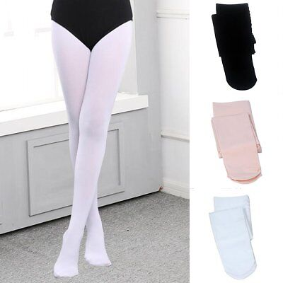 Girls Kids Stretch Gymnastics Ballet Dance Tights Pantyhose Long Stockings Socks