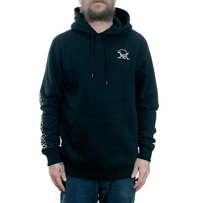 Brixton x Jason Jessee Cian Hooded Fleece Sweatshirt Black Hoodie Free Delivery