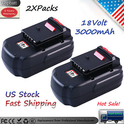 2Packs 3.0AH Replacement for 18V Porter cable battery PC18B PCC489N PCMVC PCXMVC