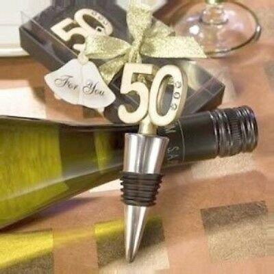 (36) - 50th Anniversary or Birthday Wine Bottle Stopper Anniversary Favour