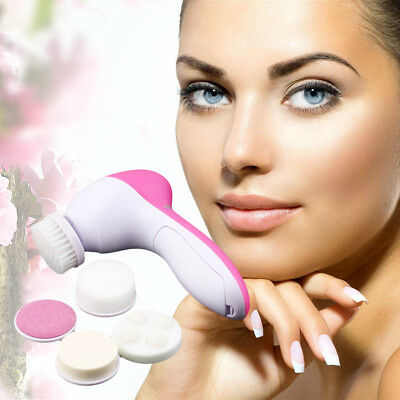 5-1 Multifunction Electric Face Facial Cleansing Brush Spa Skin Care massage OB
