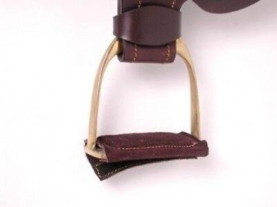 Australian Outrider Collection Leather Stirrup Pad - Brown. JT. Free Delivery