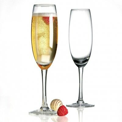 Anchor Hocking 4-Piece Bianca Fluted Champaign Glasses. Shipping is Free