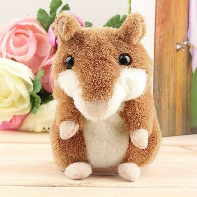 Cute Pet Talking Record Speak Hamster Plush Toy for Kids Amazing Gift AM