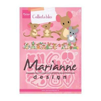 Marianne design collectables die set ELINES mouse mice COL1437