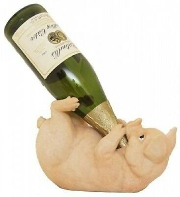 Swine Pig Piglet Wine Bottle Guzzler Holder Kitchen Decor. Unique