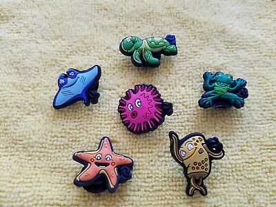 MARINE LIFE shoe charms/cake toppers!! Lot of 6!! FAST USA SHIPPING!!