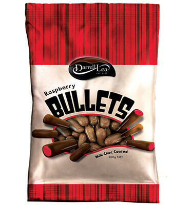 Darrell Lea Milk Chocolate Raspberry Bullets 200g x 14