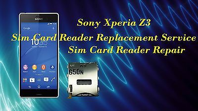 Sony Xperia Z3 Sim Card Reader Replacement Repair Service