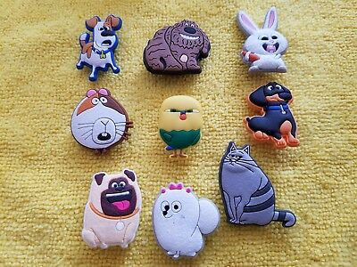 SECRET LIFE OF PETS shoe charms/cake toppers!! Lot of 9! FAST USA SHIPPING!!
