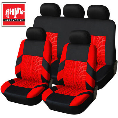 Bentley Continental Gt Coupe 03-12 Heavy Duty Black & Red Trax Seat Cover Set