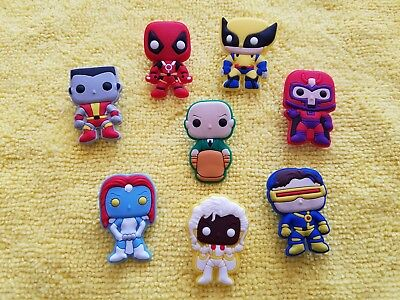 X-MEN shoe charms/cake toppers!! Lot of 8!! FAST USA SHIPPING!!