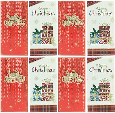 Pack Of 8 Christmas Money Wallet Gift Cards & Envelopes - Traditional Designs
