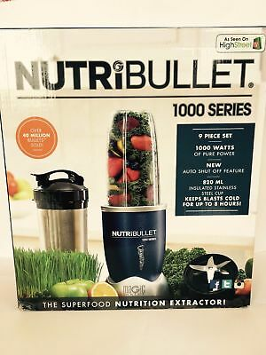NUTRiBULLET Pro 1000 Series Extractor Blender 9 -piece set, 0.93 L,1000 W NEW