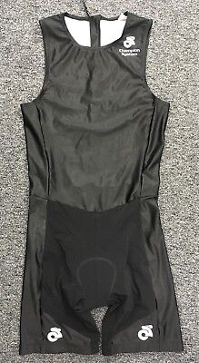 Performance Classic Trisuit for Running Triathlon Cycling Rear Zip Mens (Black)