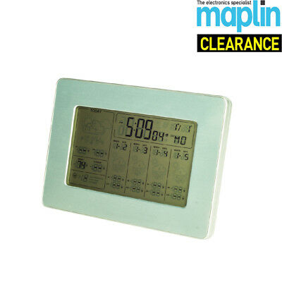 Weather Clock With 5 Day Forecasting And Alarm Function N56NU Maplin