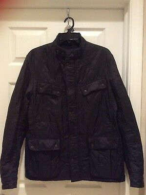 BARBOUR INTL. Men's ARIEL POLARQUILT Black JACKET Size Large